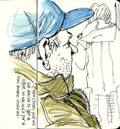 Drawing out and about in a sketchbook - some hot tips by Lynne Chapman