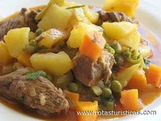 Carne à Jardineira Portugal Receitas culinárias de Portugal, pratos, cozinha tradicional de Portugal, gastronomia de Portugal