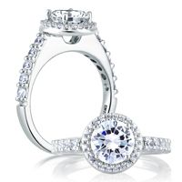 Check out our website  http://www.diamondconnectiononline.com/ #TheDiamondConnection will build your own customized ring to reflect your unique style & personality. #EngagementRing Brand: #AJaffe Ring Style: ME1459