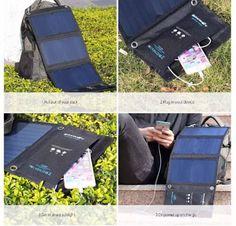 Solar-Charger-Portable-Sunpower-Power-Panel-Bank-Usb-Aokey-12000mah-4-Foldable-J
