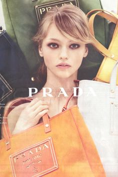 Love the old Prada Resort ads with Sasha Pivovarova.