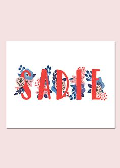 Items similar to Sadie Personalized Name Sign Party Printable Party Decorations Adult Party Decorations Birthday Party Decorations Name Print on Etsy Adult Party Decorations, Digital Photo Printer, Chicago Map, Name Wall Art, Baby Name Signs, Photo Printing Services, Bathroom Kids, Baby Girl Names, Map Art