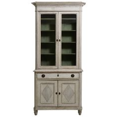 19th Century Swedish Late Gustavian Period Vitrine Cabinet | From a unique collection of antique and modern cabinets at https://www.1stdibs.com/furniture/storage-case-pieces/cabinets/