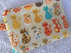 Cream Calico Kitties Small Zippered Pouch by pogtotes on Etsy