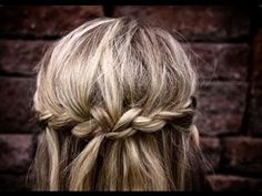 Very simple boho braid. No heat, no product.