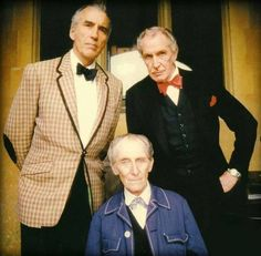 Christopher Lee, Peter Cushing and Vincent Price. House of The Long Shadows (1983).