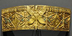 Nubian Armlet. From the treasure of the Nubian queen Amanishakheto, pyramid N6, Meroe, modern-day northern Sudan.