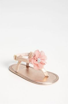 Stuart Weitzman 'Baby Silk' Sandal (Baby)