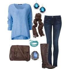 """""""Cozy Fall Outfit"""" by alycia-renae on Polyvore"""