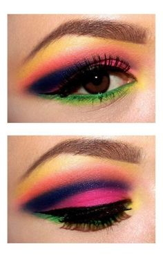 #makeup #neon #eyes #bright #colorful