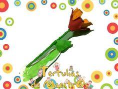 Reciclando: Flor para el Día de las madres