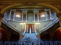 In the Romanian Athenaeum Capital Of Romania, Palace Of The Parliament, Worldwide Photography, Circular Buildings, Beautiful Park, Beautiful Places, Grand Entrance, Concert Hall, Eastern Europe