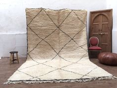 8x12 Stunning North african Handmade BENIOURAIN berber authentic Beni ourain knotted carpet authentic Handmade Beni Ouarain Moroccan rug