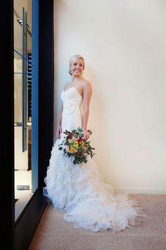 Casablanca Bridal wedding dress | Quetzal Photography on @myhotelwedding via @aislesociety