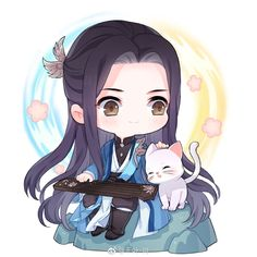 Cute Anime Chibi, Cute Anime Pics, Manga Anime, Anime Art, Chinese Drawings, Anime People, Amazing Art, Cute Girls, Kitty