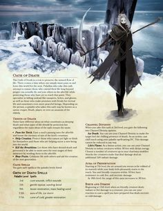 Paladin: Oath of Death by GetShiggyWithIt – DnD Homebrew Dungeons And Dragons Classes, Dungeons And Dragons Homebrew, Dungeons And Dragons Characters, Dnd Characters, Fantasy Characters, Dungeons And Dragons Paladin, Dnd Paladin, Cleric, Necromancer