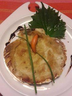 Capesante Gratinate al Forno con Besciamella e Funghi Porcini