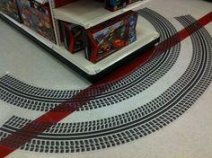 Cars endcap at Target