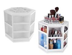 Lori Greiner Tabletop Spinning Cosmetic Organizer White | eBay  like really i need this for my dorm