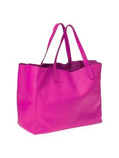 My holiday gift to myself: a new everyday bag, perfect for holding lunch, laptop, lululemon pants and more. in hot pink, of course. $125 at gap.