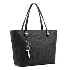 Calvin Klein Haley Lurex City Shopper Tote Bag Black