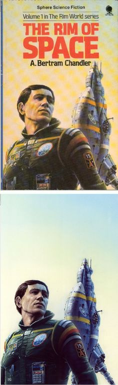 PETER ELSON - The Rim of Space by A. Bertram Chandler - 1981 Sphere Books - cover by isfdb - print by peterelson.co.uk