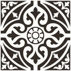 Devonstyle Black Pattern Wall and Floor Tile Devon Style floor tiles make a wonderful feature of any hallway or bathroom. Use the Devon Style Black base tile as a border to create a focal point or deploy across the whole floor for a real stateme