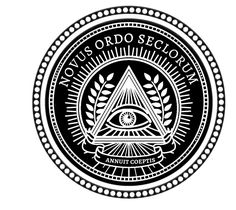 Illuminati New World Order Eye Triangle Black