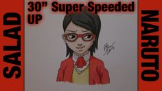 "Drawing Time Lapse: Sarada ""Salad"" Uchiha (Naruto) ナルト 