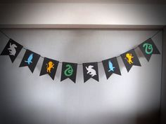 Harry Potter Party, Gryffindor, Hogwarts Houses, Gryffindor, Hufflepuff, Ravenclaw, Slytherin, Flag Banner, Harry Potter Banner, Hogwarts