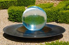 Sphere Fountains & Water Features For Your Garden | Allison Armour