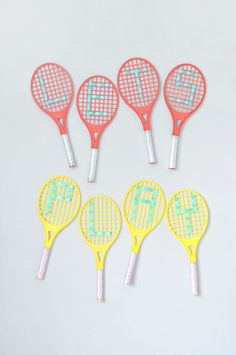 Turn toy tennis racquets into fun summer decorations!