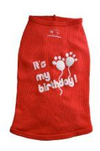 Ruff Ruff And Meow Dog Tank Top - Its My Birthday - Red Large by Ruff Ruff & Meow at  www.buydogsweaters.com  $19.95
