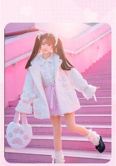 Harajuku Fashion, Kawaii Fashion, Cute Fashion, Teen Fashion, Fashion Outfits, Cute Korean Girl, Cute Asian Girls, Cute Girls, Looks Kawaii