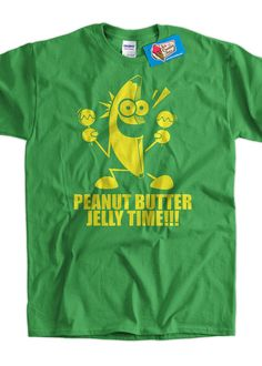 Funny T-Shirt Geek T-Shirt Banana Peanut Butter Jelly Time T-Shirt Gifts for Dad Screen Printed T-Shirt Tee Shirt T Shirt Mens Ladies Womens on Etsy, $14.99
