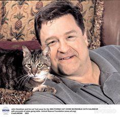 John Goodman with his cat Tosh