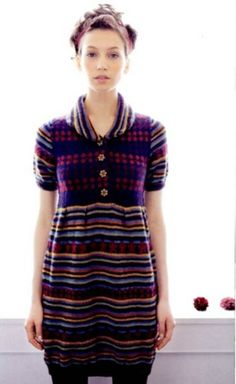 Cute knitted dress from Keito Dama (Japanese knitting/crochet magazine) - 151