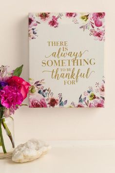 Always Something To Be Thankful For Canvas Wall Decor-  gift-cllifestyle