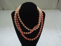 Your place to buy and sell all things handmade Pop Beads, Peach Colors, Light Colors, Iridescent, 1940s, Beaded Necklace, How To Make, Handmade, Stuff To Buy