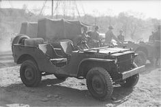 1941 Ford Army Jeep. Willys and American Bantam also made versions of the Army Jeep.