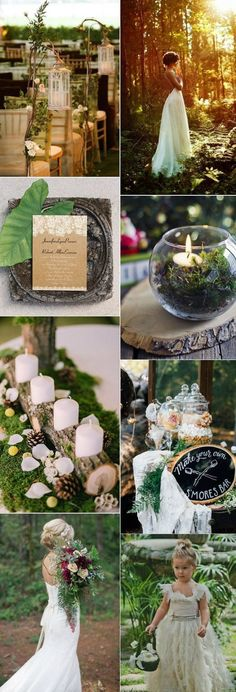 Dreamy And Enchanted Woodland Inspired Wedding Ideas.