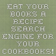 Eat Your Books - A recipe search engine for your cookbooks!