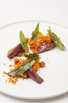 Anjou pigeon, sweet potato + sorrel = yum! One of the many dishes featured in Burnt, an inspiring story about food, love and second chances. Starring Bradley Cooper and in theaters Oct. 23!