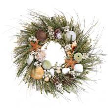 Shoreline Design Seashell Wreath