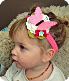 Felt Flower Headband - absolutely love these headbands, so many cute ones!