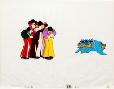 """You can talk to me, you can talk to meYou can talk to me, if you're lonely you can talk to meAnimation cel of the """"Hey Bulldog"""" sequence from the 1968 feature, Yellow Submarine. One of my favorite Beatles songs, as it's so spontaneous and everyone. Sweet Love Quotes, Love Is Sweet, Beatles Songs, The Beatles, Yellow Submarine Art, Animation Cel, Monster Toys, Creature Feature, Room Posters"""