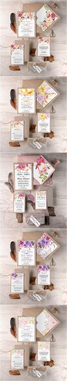 Rustic country kraft paper wedding invitations #rusticwedding #countrywedding…