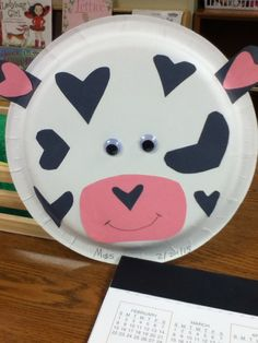 Heart Spotted Cow Craft - This is from our Mr. Brown Can MOO!!! Can you?? Lesson Plan.  PLEASE check out more fun  free lesson plans and resources for preschool kids on our website!