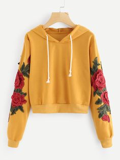 94146d6d4 15 Best Embroidered hoodies images | Embroidered clothes, Blouses ...