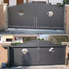Cancello scorrevole automatico. Automatic sliding gate.